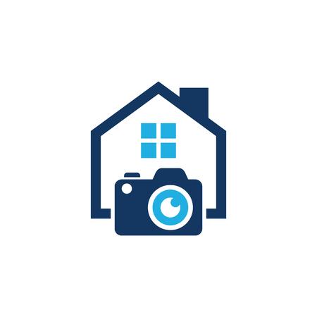 Illustration pour Camera House Logo Icon Design - image libre de droit
