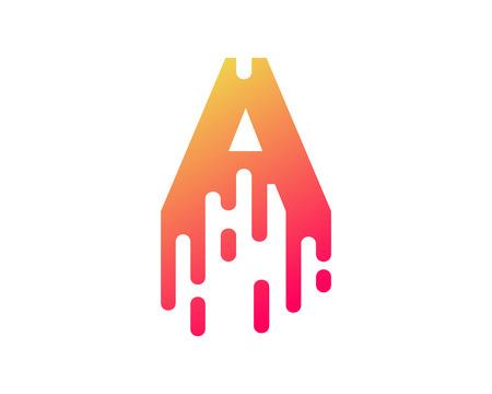 Ilustración de A Letter Paint Wet Logo Icon Design - Imagen libre de derechos