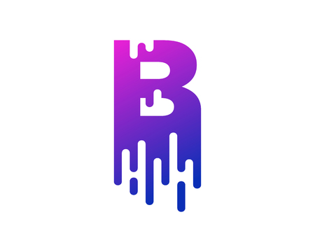 Ilustración de B Letter Paint Wet Logo Icon Design - Imagen libre de derechos