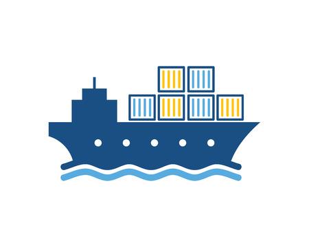 Ilustración de Shipping Logistic Logo Icon Design - Imagen libre de derechos
