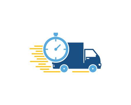Photo pour Time Logistic Logo Icon Design - image libre de droit