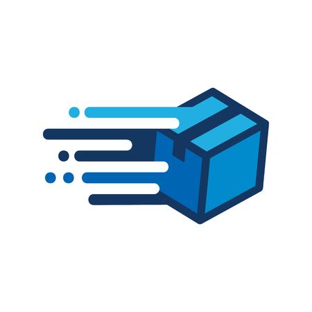Ilustración de Box Speed Logo Icon Design - Imagen libre de derechos