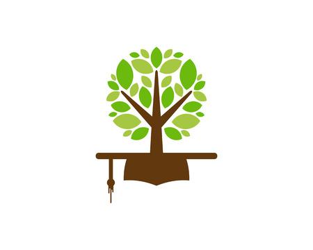 Illustration pour Education Tree Logo Icon Design - image libre de droit