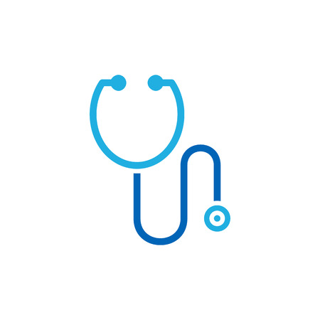 Ilustración de Stethoscope Medical Logo Icon Design - Imagen libre de derechos