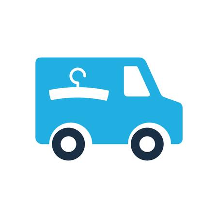 Ilustración de Laundry Delivery Logo Icon Design - Imagen libre de derechos