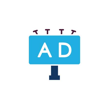 Illustration for Billboard Advertising Icon Design - Royalty Free Image