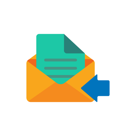 Illustration pour Receive Email Logo Icon Design - image libre de droit