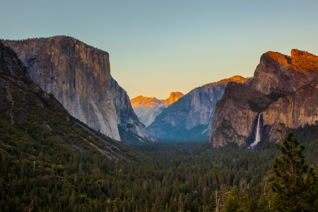 Yosemite Valley from Tunnel View at Sunset, Yosemite National Park, CA