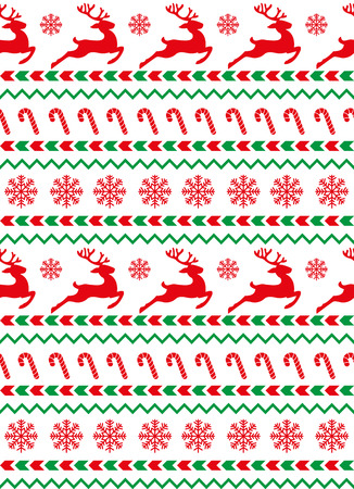 New Year's 2018 Christmas pattern for print.