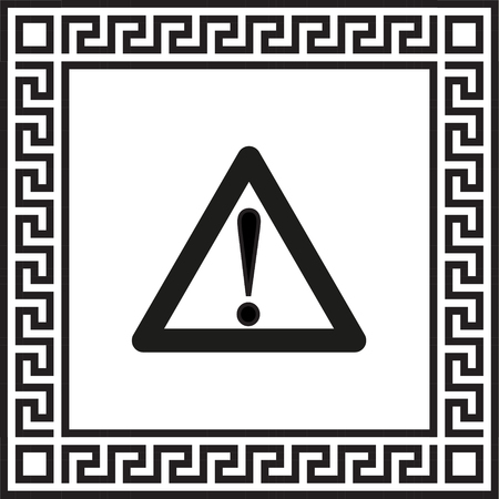 caution vector icon framed with Greek EPS ornament: Gráficos ...