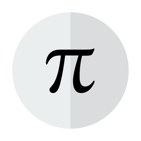 Vector sign Pi on a transparent background