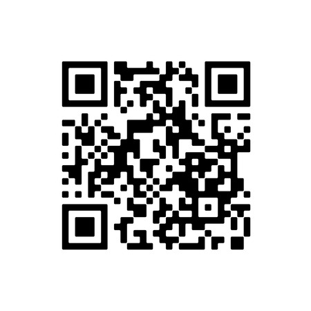 Vector QR code sample for smartphone scanning isolated on