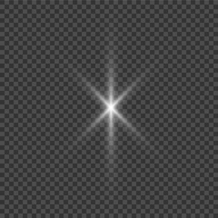 Illustration pour White glowing light explodes on a transparent - image libre de droit