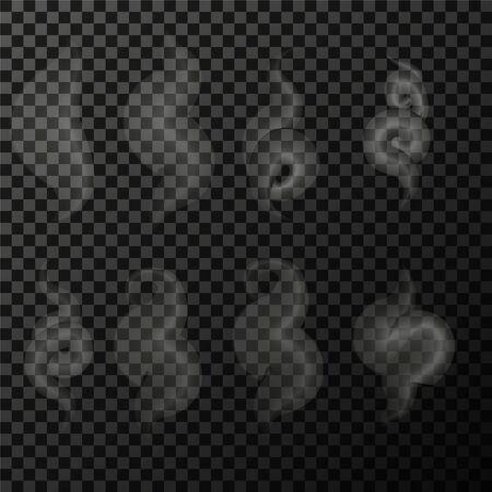 Illustration pour Set of transparent smoke on a plaid background eps - image libre de droit