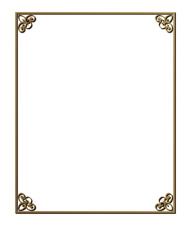 Illustration for Vector illustration of art deco borders and frames. Creative pattern in the style of the 1920s for your design. - Royalty Free Image