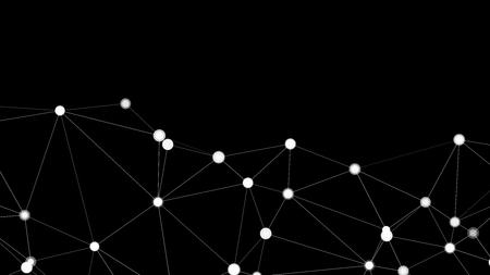 Illustration pour Digital technology transformation, vector shapes elements - image libre de droit