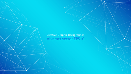Illustration pour Modern technology abstract presentation layout, connected dots lines vector abstract creative background - image libre de droit