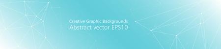 Ilustración de Digital network geometric abstract pattern vector connected dots and lines - Imagen libre de derechos