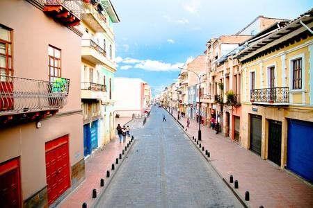 Streets of Cuenca Ecuador during the festivities