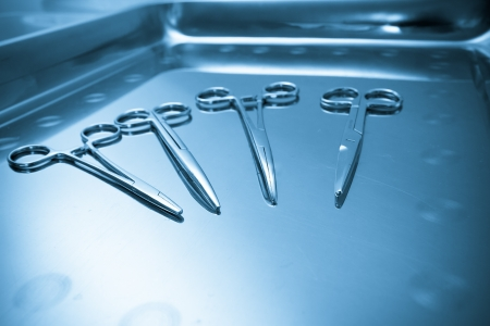 Surgical instruments  Medical concept