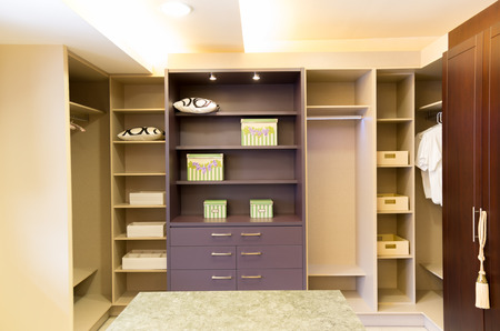 spacious beautiful and modern walk in closet