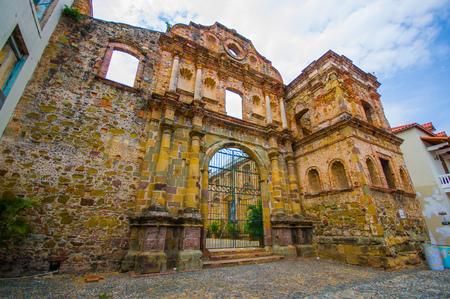 La Compania church in casco viejo district, in Panama .