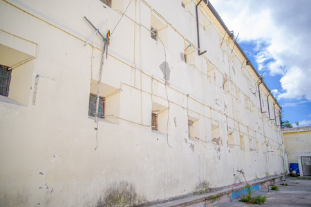 Outdoor view of old prison Penal Garcia Moreno in the city of Quito