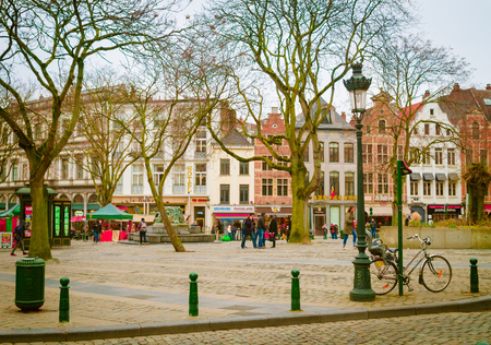 Brussels, Belgium, May, 31, 2018: Outdoor view of old town in Brussels city, with a population of over 1.8 million, the largest in Belgium