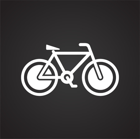 Illustration for Bicycle icon on black background for graphic and web design, Modern simple vector sign. Internet concept. Trendy symbol for website design web button or mobile app - Royalty Free Image