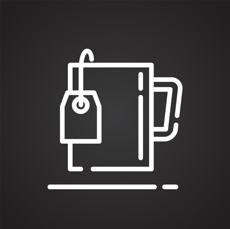 tea bag outline icon on black background for graphic and web design modern simple vector sign internet concept trendy symbol for website design web button or mobile app royalty free vector graphics clipdealer