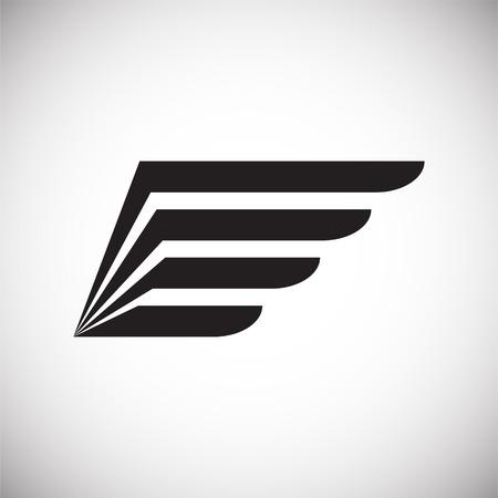 Ilustración de Wing icon on white background for graphic and web design. Simple vector sign. Internet concept symbol for website button or mobile app. - Imagen libre de derechos
