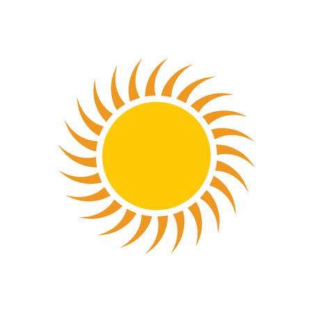 Illustration pour Sun icon on background for graphic and web design. Simple vector sign. Internet concept symbol for website button or mobile app. - image libre de droit