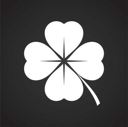 Illustration pour Clover icon on background for graphic and web design. Simple vector sign. Internet concept symbol for website button or mobile app. - image libre de droit