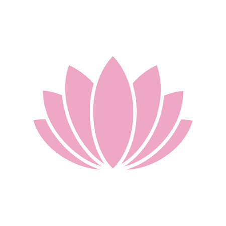 Illustration pour Lotos flower icon on background for graphic and web design. Simple vector sign. Internet concept symbol for website button or mobile app - image libre de droit