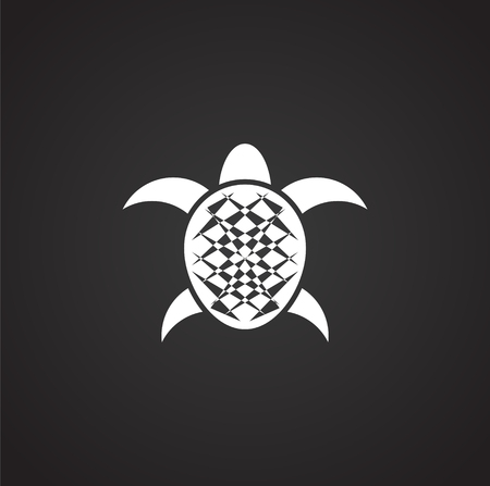 Illustration for Sea turtle icon on background for graphic and web design. Simple illustration. Internet concept symbol for website button or mobile app. - Royalty Free Image