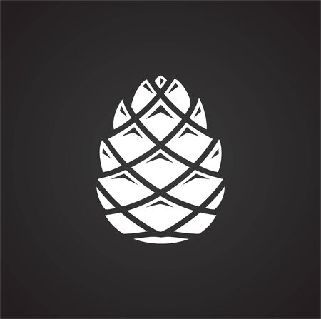 Illustration pour Pine cone icon on background for graphic and web design. Simple illustration. Internet concept symbol for website button or mobile app - image libre de droit