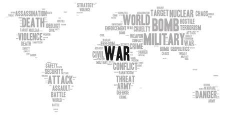Illustration pour War word cloud - image libre de droit
