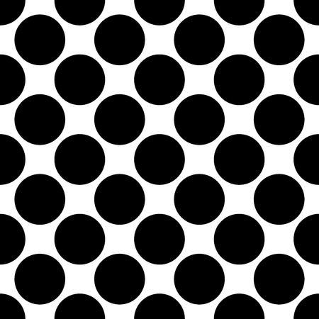 Ilustración de Seamless polka dot pattern. Black dots on white background. Vector illustration. - Imagen libre de derechos