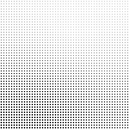 Illustration for Abstract halftone background in black and white. Dotted vector pattern. - Royalty Free Image