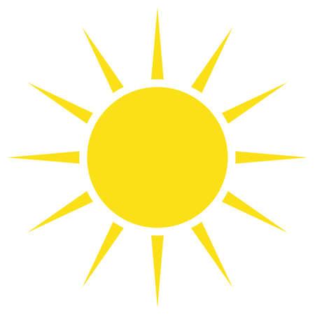 Illustration pour Yellow sun simple flat icon - image libre de droit