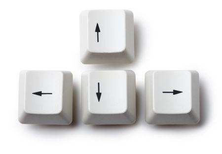 The four keyboard arrow keys on a white background