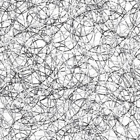 Seamless monochrome square texture - scribble - vector eps8