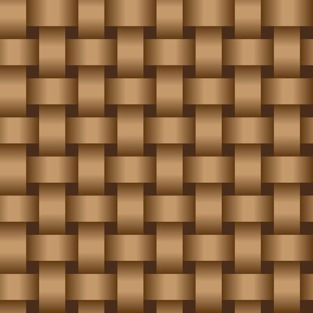 Interweaving brown tapes - an abstract texture vector eps8
