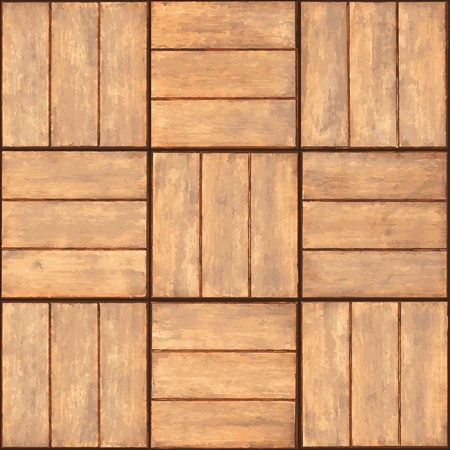 Seamless texture - a wall lined with wooden plaque