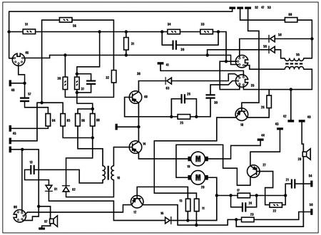 Electric scheme - fantasy technology background