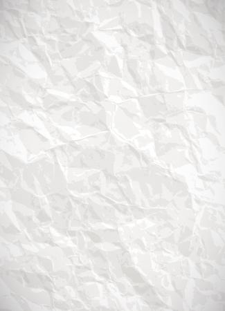 Illustration pour Paper background - vector white crumpled texture - image libre de droit