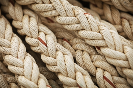 Big marine sea ropes in heap - the background