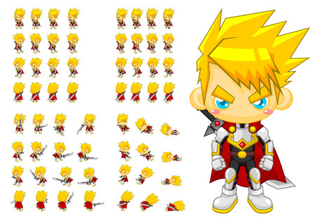 top down knight game character sprites: Royalty-free vector
