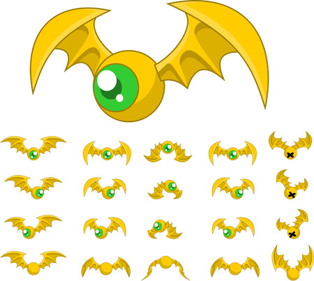 top down bat game character sprites: Royalty-free vector graphics