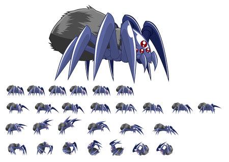 Illustration pour Animated Spider Game Character - image libre de droit